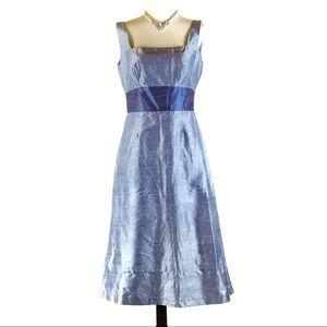Watters & Wattes blue silk sleeveless dress